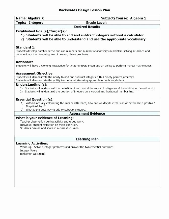 Tiered Lesson Plan Template Luxury Lesson Plan Design Template