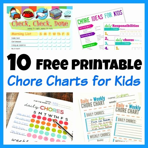 Toddler Chore Chart Template Elegant 10 Free Printable Chore Charts for Kids