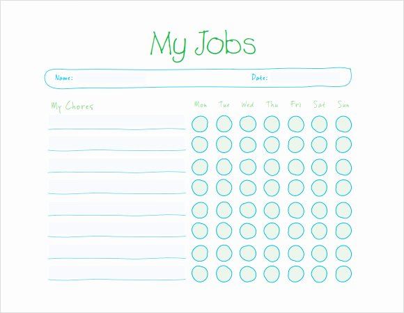 Toddler Chore Chart Template Elegant Sample Kids Chore Chart Template 8 Free Documents In