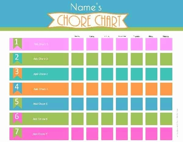 Toddler Chore Chart Template Fresh Chore Chart Template
