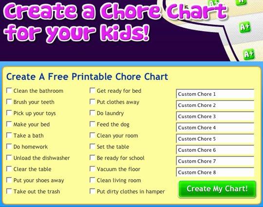 Toddler Chore Chart Template Fresh Rantin & Ravin Kids Chore Charts