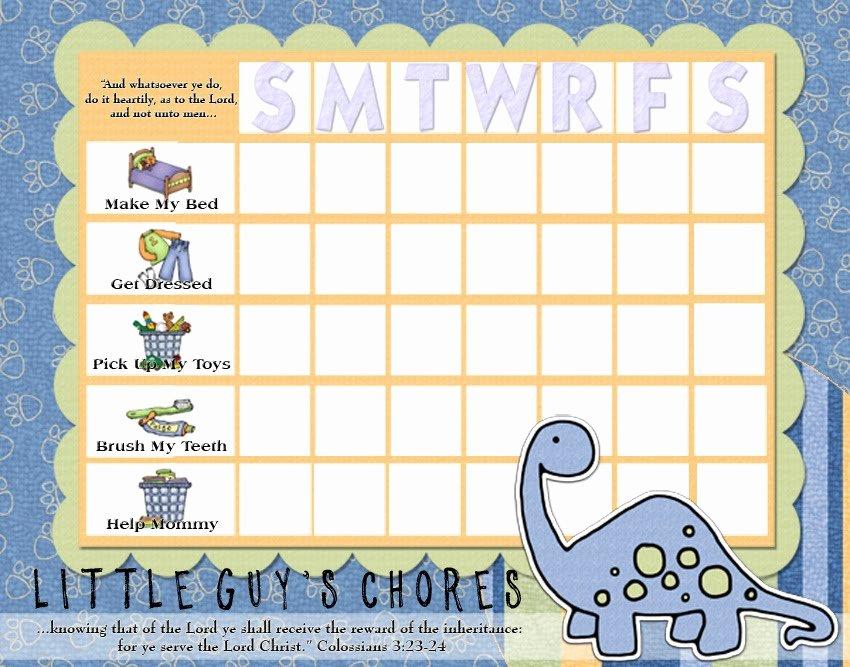 Toddler Chore Chart Template Inspirational Rantin & Ravin Kids Chore Charts