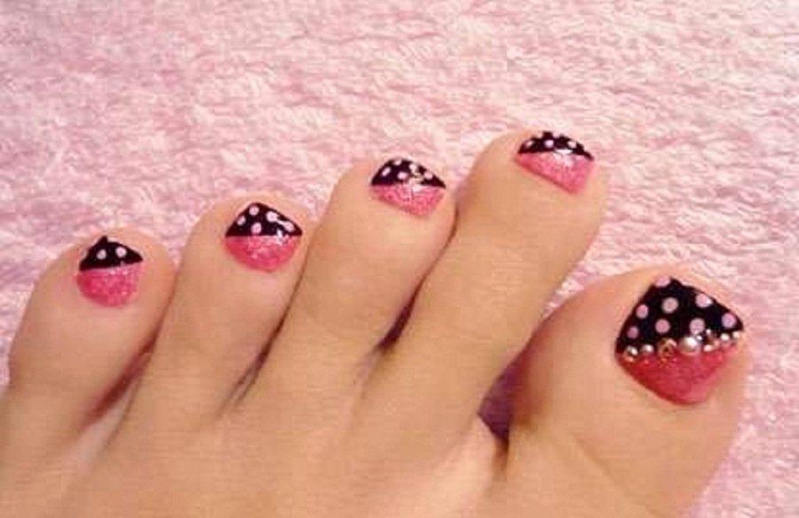 Toe Nail Art Easy Elegant 40 Pink toe Nail Art Design Ideas