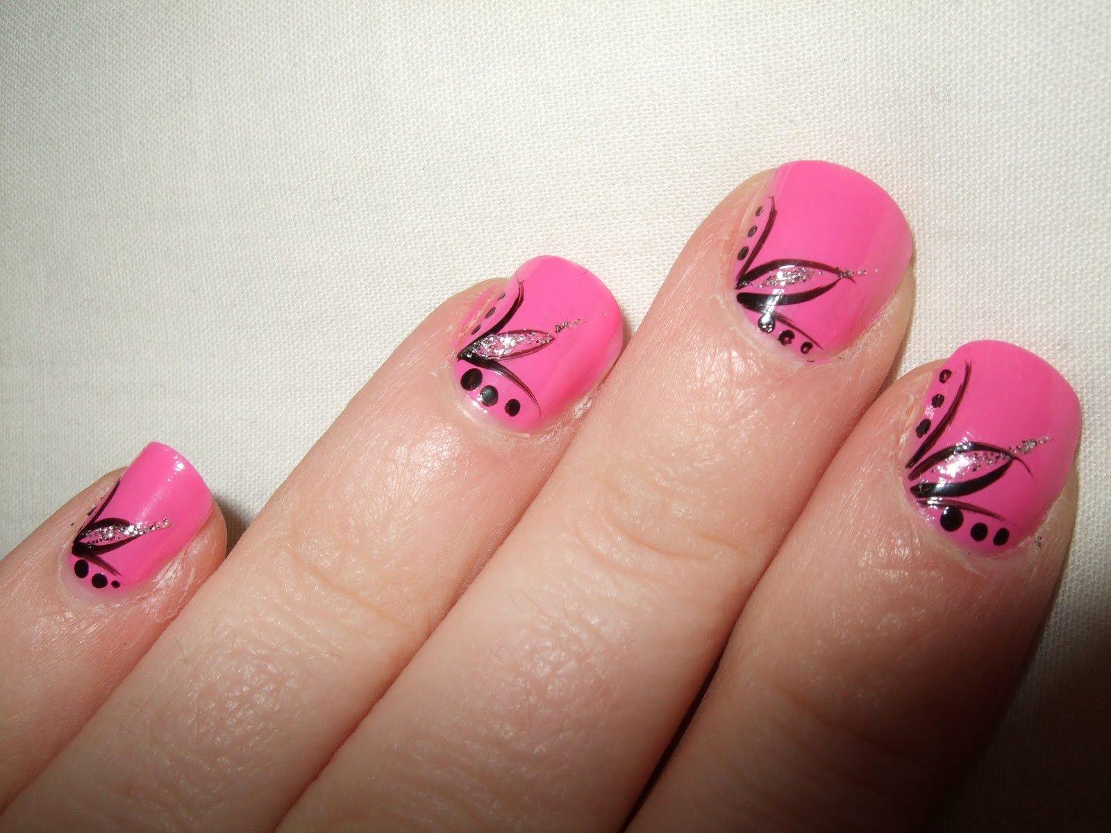 Toe Nail Art Easy New Oooooh Pretty My First Ever Nail Art Design