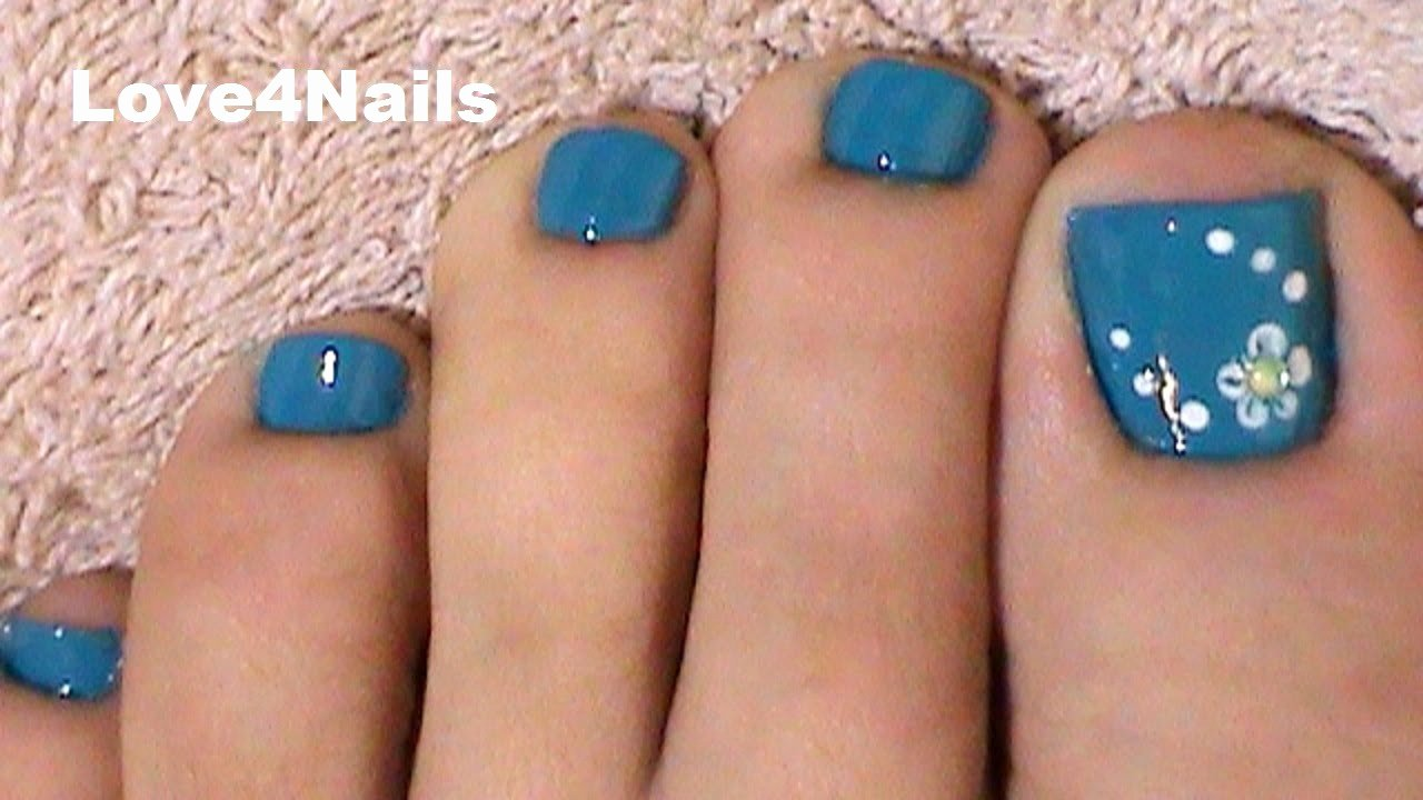 Toe Nail Art Easy Unique Fast & Easy Blue toe Nail Art