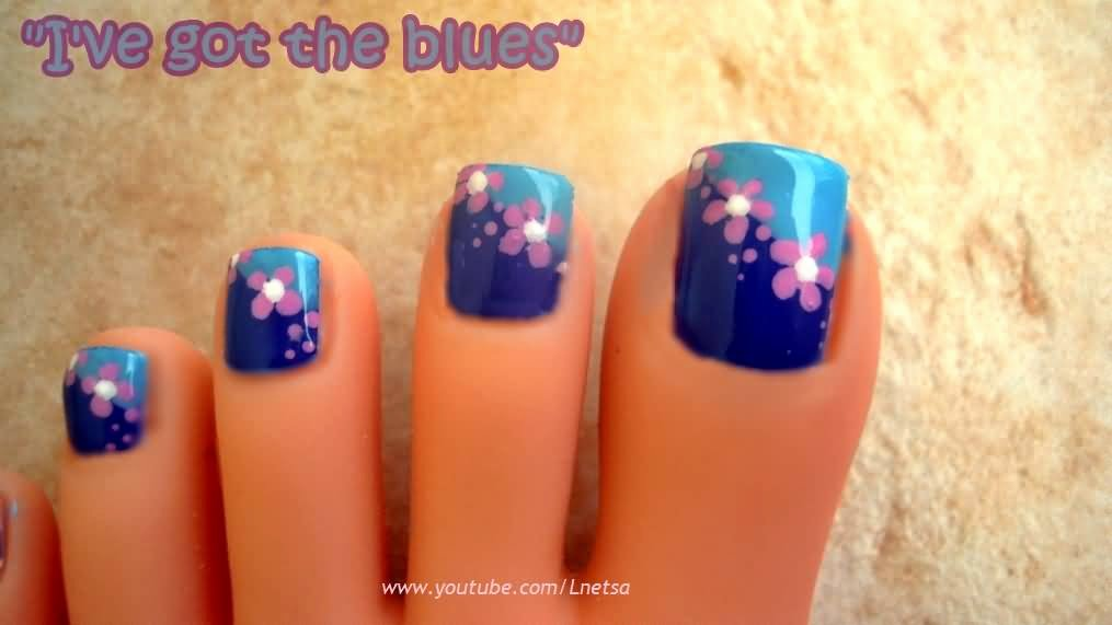 Toe Nail Art Flower Awesome 50 Most Beautiful and Stylish Flower toe Nail Art Design