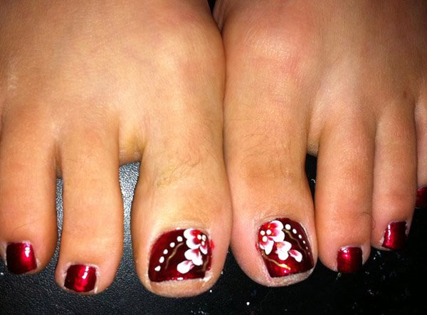 Toe Nail Art Flower Beautiful 50 Most Beautiful and Stylish Flower toe Nail Art Design