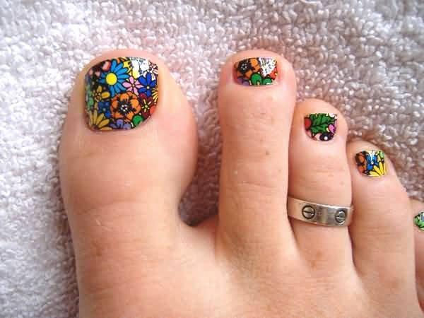 Toe Nail Art Flower Beautiful 50 Most Beautiful and Stylish Flower toe Nail Art Design