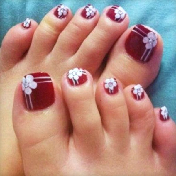 Toe Nail Art Flower Beautiful Best Fashion toe Nail Art Designs
