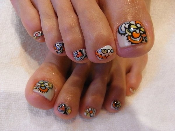 Toe Nail Art Flower Fresh 301 Moved Permanently