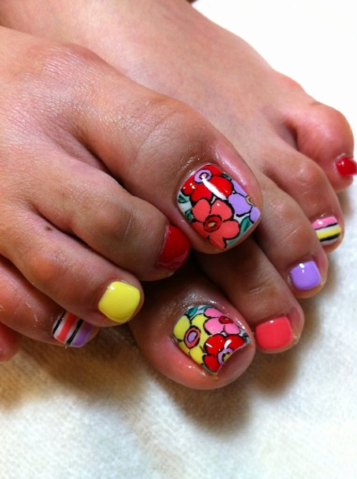 Toe Nail Art Flower Fresh 55 Cute toe Nail Designs for Every Mood and Taste Fmag