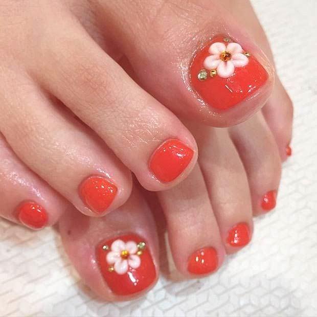 Toe Nail Art Flower Inspirational 32 Flower toe Nail Designs Nail Designs