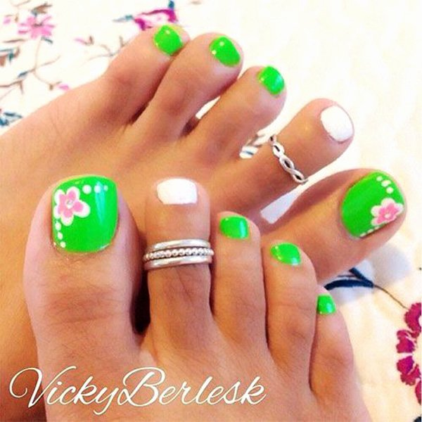 Toe Nail Art Flower Lovely 50 Most Beautiful and Stylish Flower toe Nail Art Design