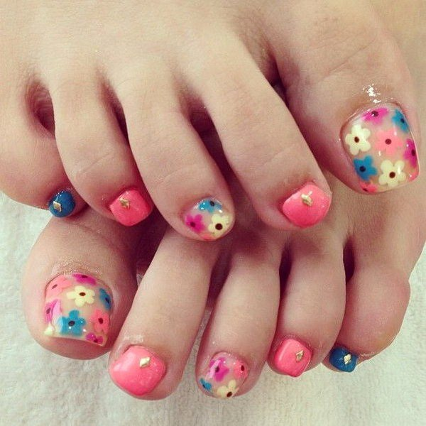 Toe Nail Art Flower Luxury 50 Pretty toe Nail Art Ideas for Creative Juice