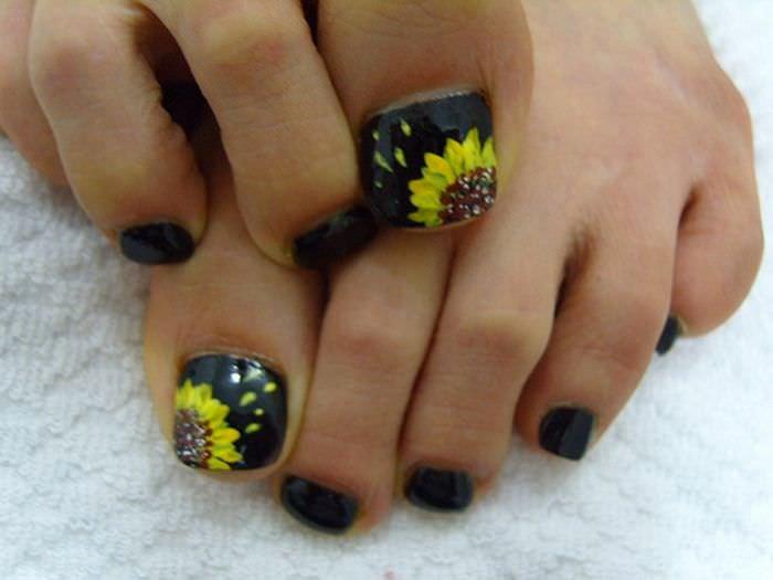 Toe Nail Art Flower New 32 Flower toe Nail Designs Nail Designs