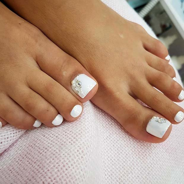 Toe Nail Design Pictures Fresh 21 Elegant toe Nail Designs for Spring and Summer