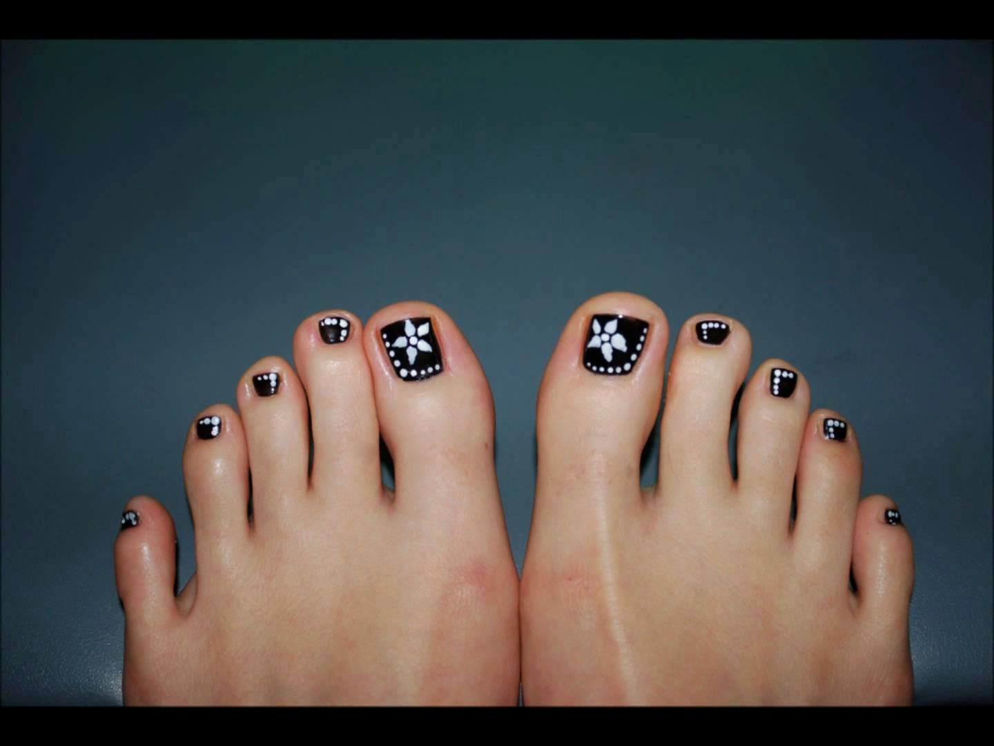 Toe Nail Design Pictures Inspirational 60 Stylish Black and White Nail Art Designs for toe Nails