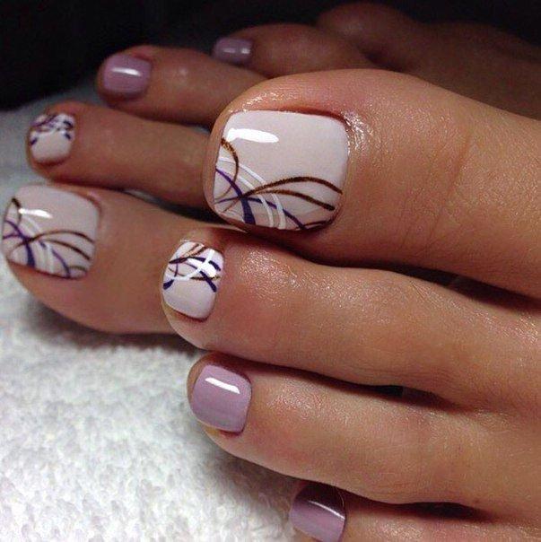 Toe Nail Polish Designs Luxury Идеи дизайна ногтей фото видео уроки маникюр S