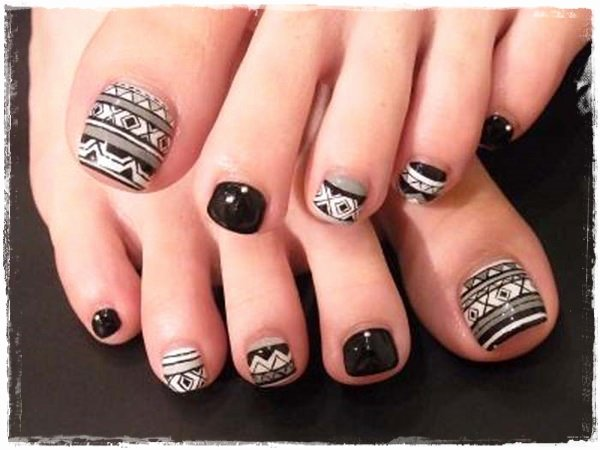 Toe Nail Polish Designs New 45 Childishly Easy toe Nail Designs 2015