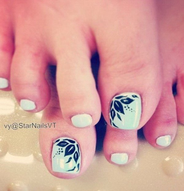 Toe Nail Polish Designs New 50 Pretty toe Nail Art Ideas for Creative Juice