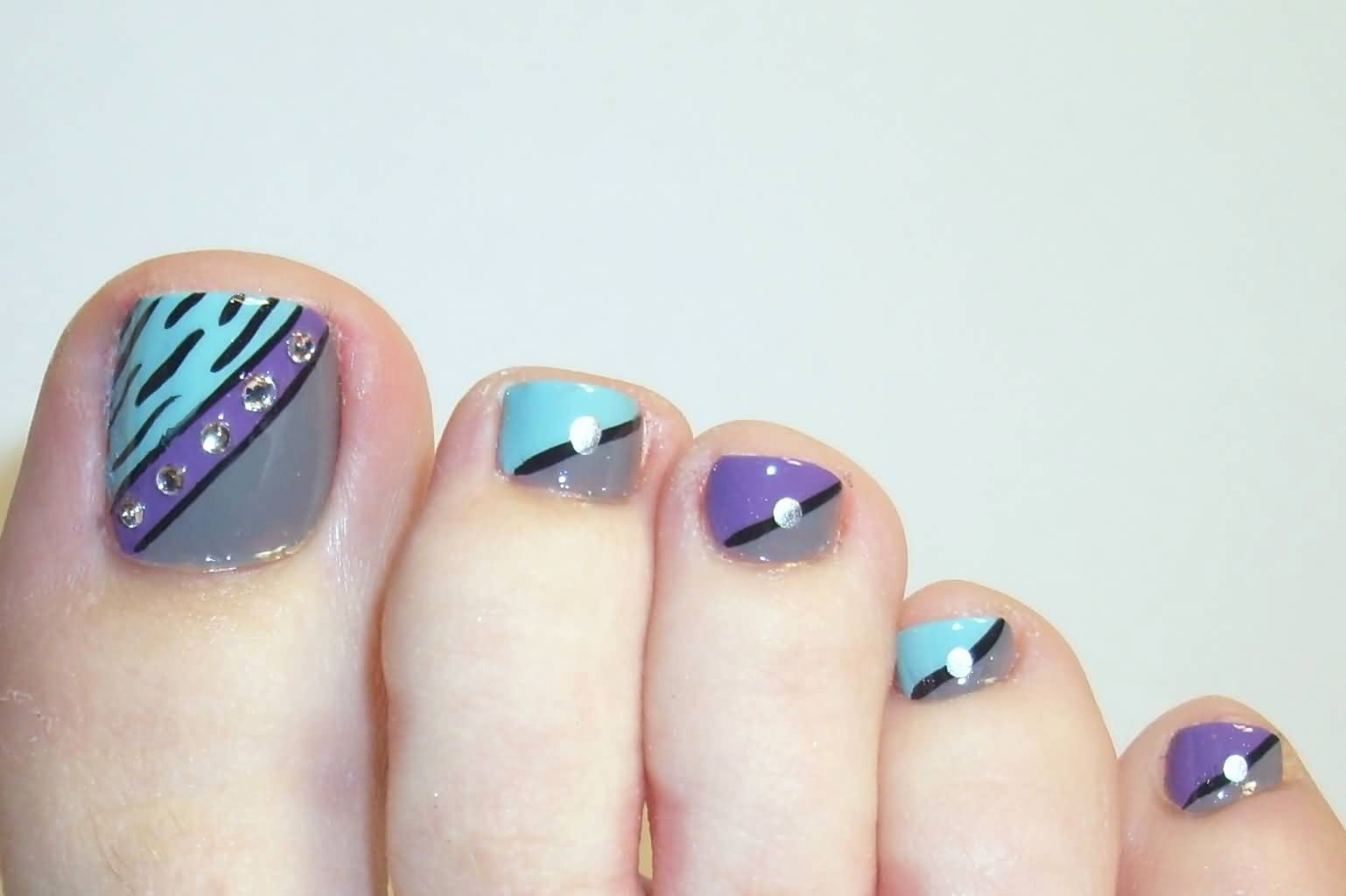 Toe Nail Polish Designs Unique 35 Stylish Purple Nail Art Designs for toe Nails