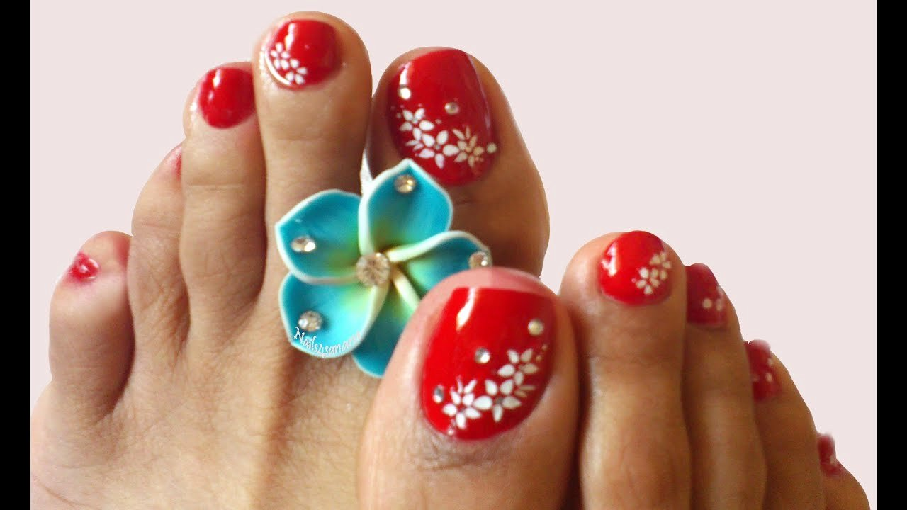 Toes Nails Design Pictures Best Of Nail Art for toes Y Red Nails