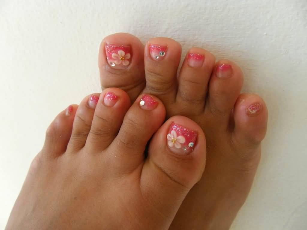 Toes Nails Design Pictures Lovely 50 Best toe Glitter Nail Art Design Ideas