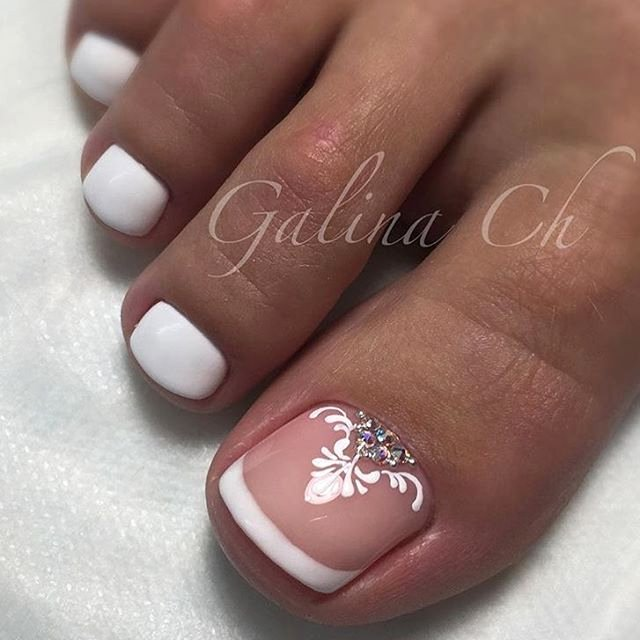 Toes Nails Design Pictures Lovely French toe Nail Art toe Nail Art Pinterest
