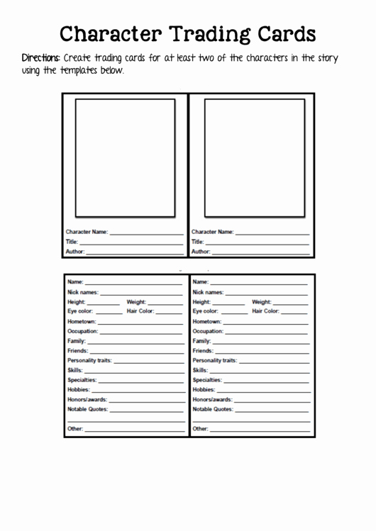 Trading Card Game Template Awesome 2 Trading Card Templates Free to In Pdf