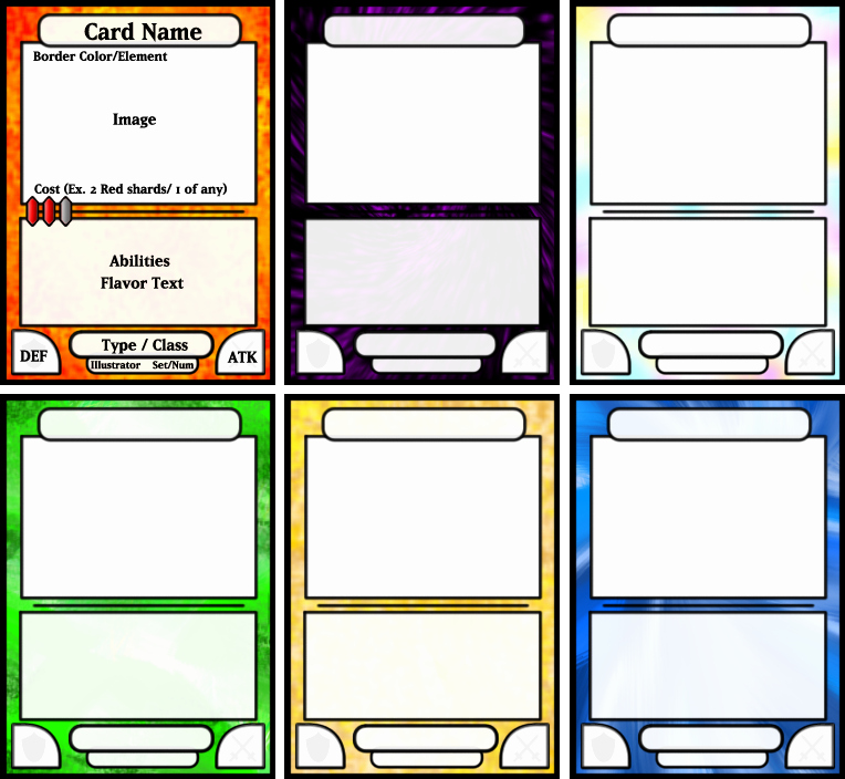 Trading Card Game Template Beautiful Board Game Card Template
