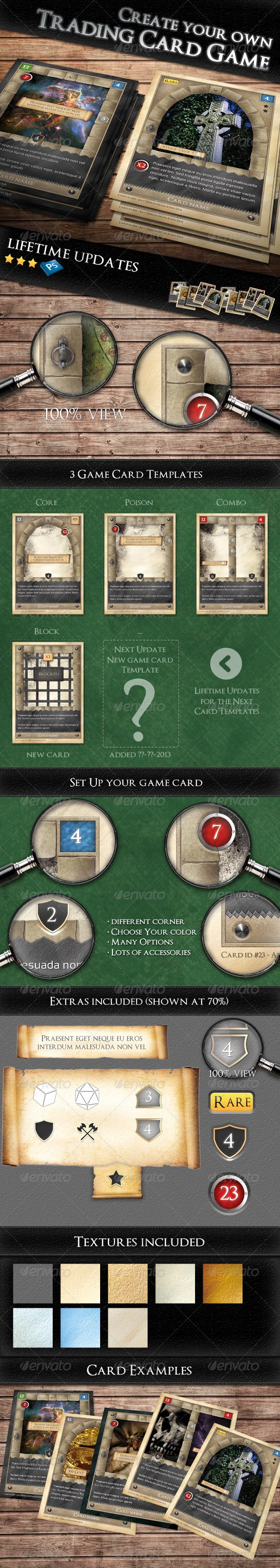Trading Card Game Template Elegant Tcg Fantasy Trading Card Game Kit In Me Val