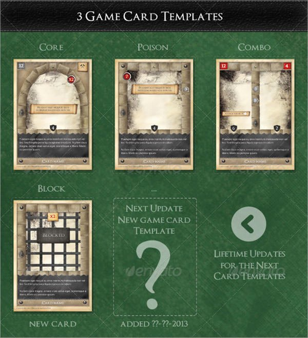Trading Card Game Template Lovely 7 Sample Trading Card Templates
