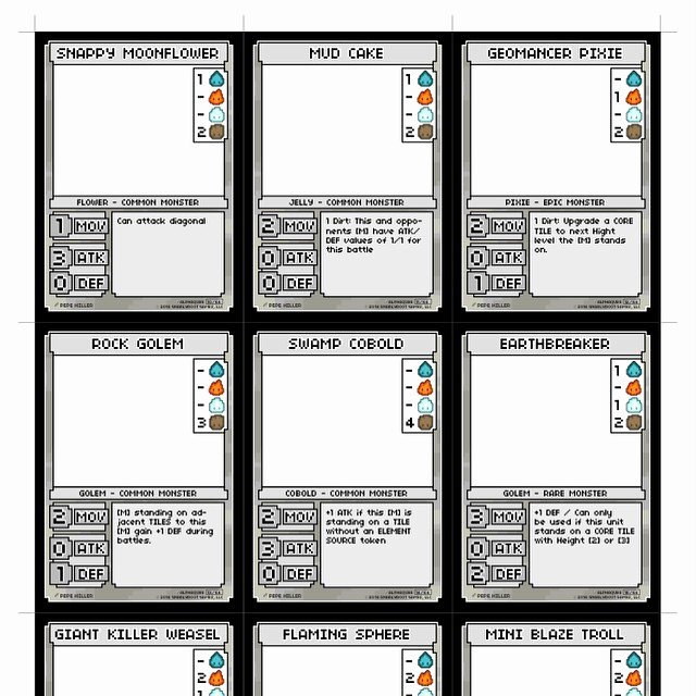 Trading Card Game Template Unique Tcg