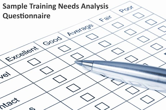 Training Needs Survey Questions Awesome Example Training Needs Analysis Questionnaire Dirjournal