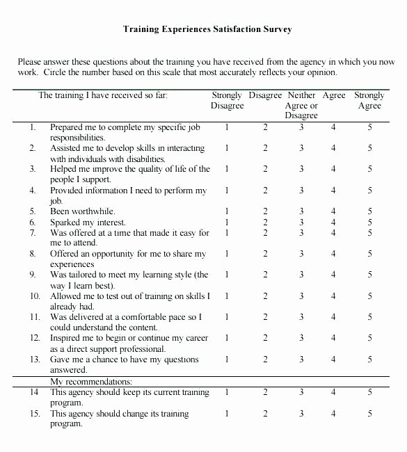 Training Needs Survey Questions Awesome Post Training Survey Template – Tucsontheaterfo