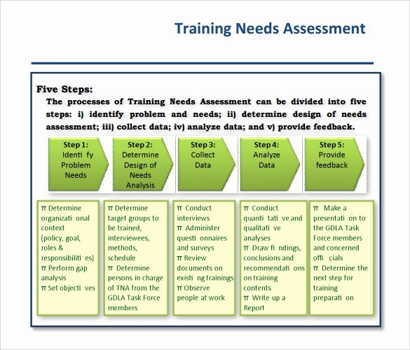 sample training needs assessment