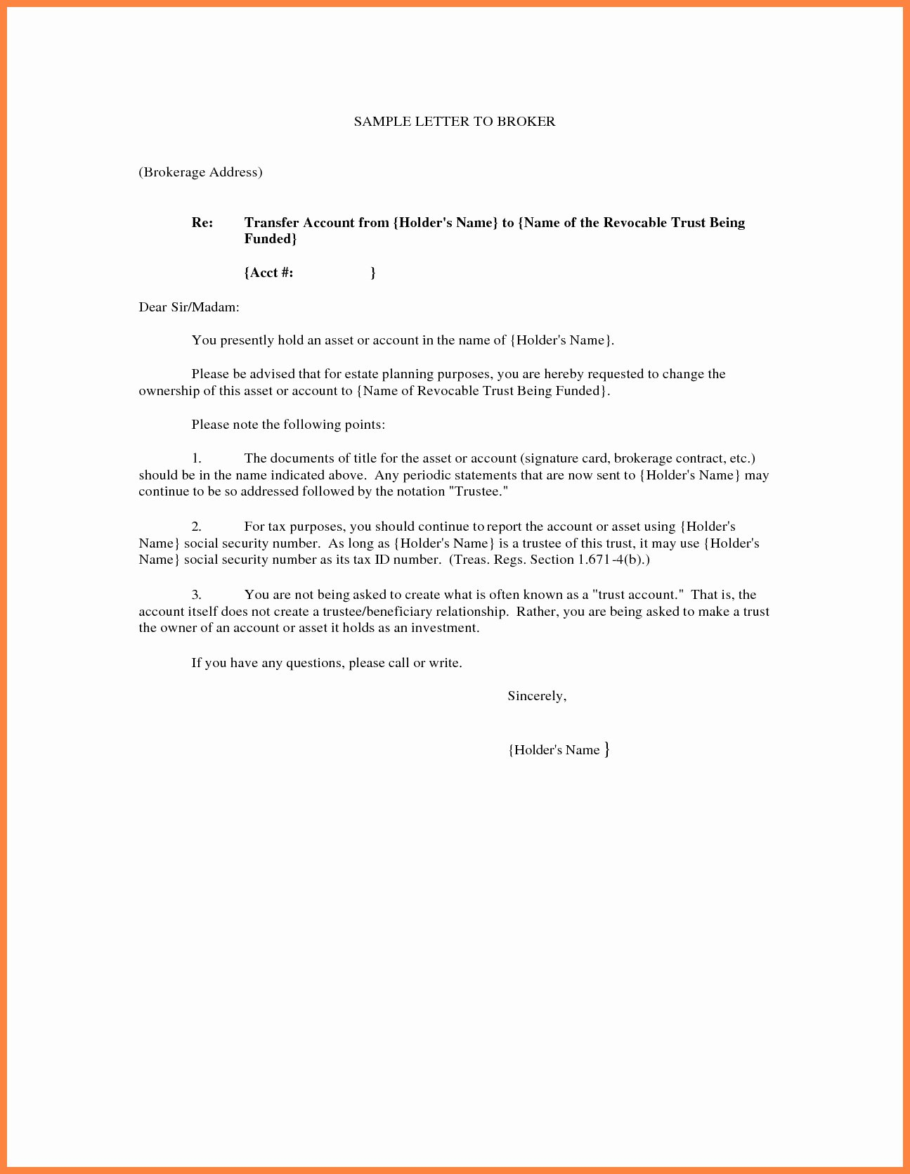 Transfer Of Ownership Template Awesome Transfer Ownership Letter Template Examples