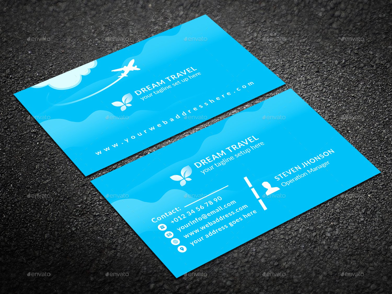 Travel Agency Id Card Awesome Travel Agency Business Card by Graphic forest
