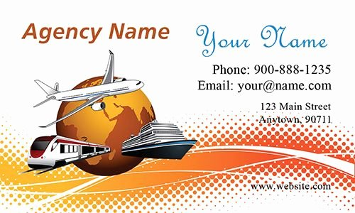 Travel Agency Id Card Beautiful Travel Agency Agent Business Card From