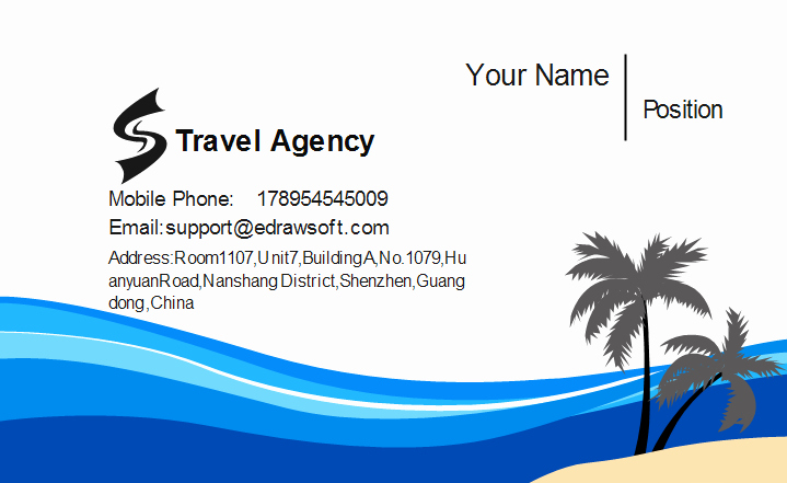 Travel Agency Id Card Beautiful Travel Agency Business Card Template