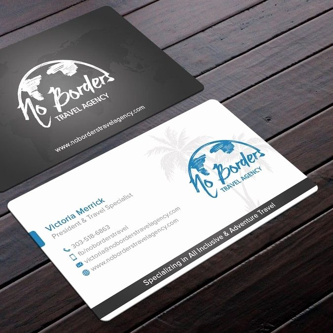 Travel Agency Id Card Best Of Create A Captivating Business Card for No Borders Travel