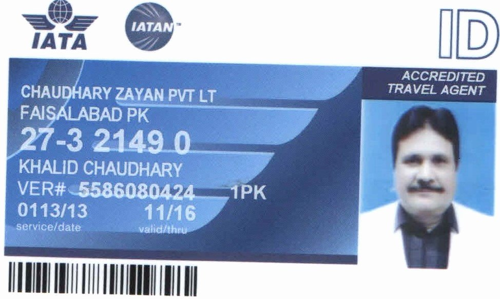 Travel Agency Id Card Fresh Iata Id Card