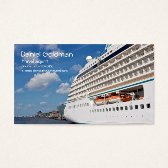 Travel Agency Id Card Inspirational Travel Agent Cruise Ship Business Card