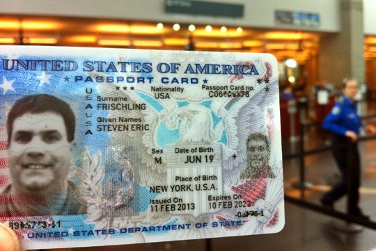Travel Agency Id Card Lovely the U S Passport Card Identification Anomaly Flying