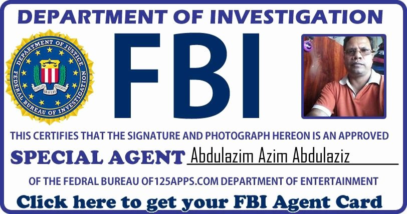 Travel Agency Id Card Unique Get Your Fbi Agent Id Card now Fun Apps Azim