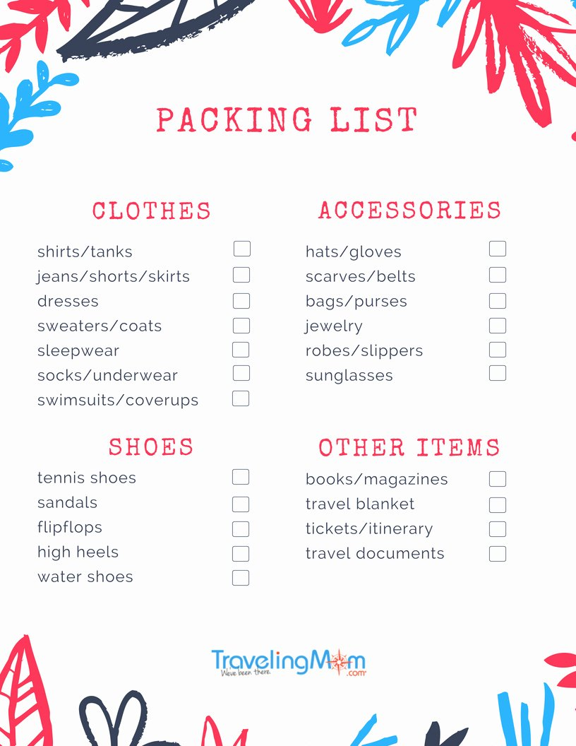 Travel Packing Checklist Luxury Ultimate Packing List for Family Travelers