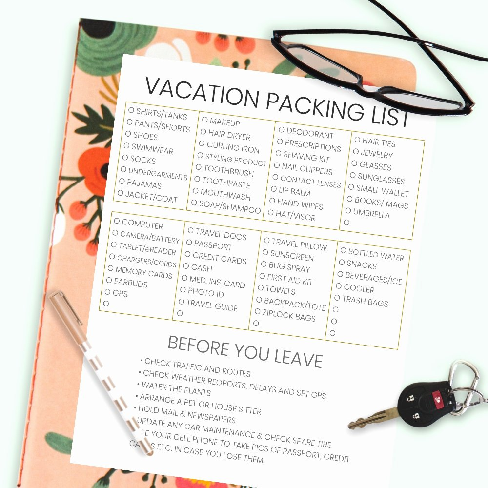 Travel Packing List Awesome the Plete Vacation Travel Packing List Tips • Made In
