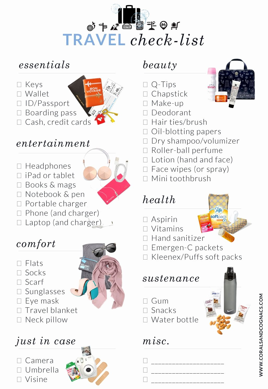 Travel Packing List Beautiful Best 25 Travel Checklist Ideas On Pinterest