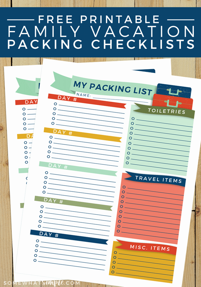 Travel Packing List Best Of Travel Packing List Free Printable somewhat Simple