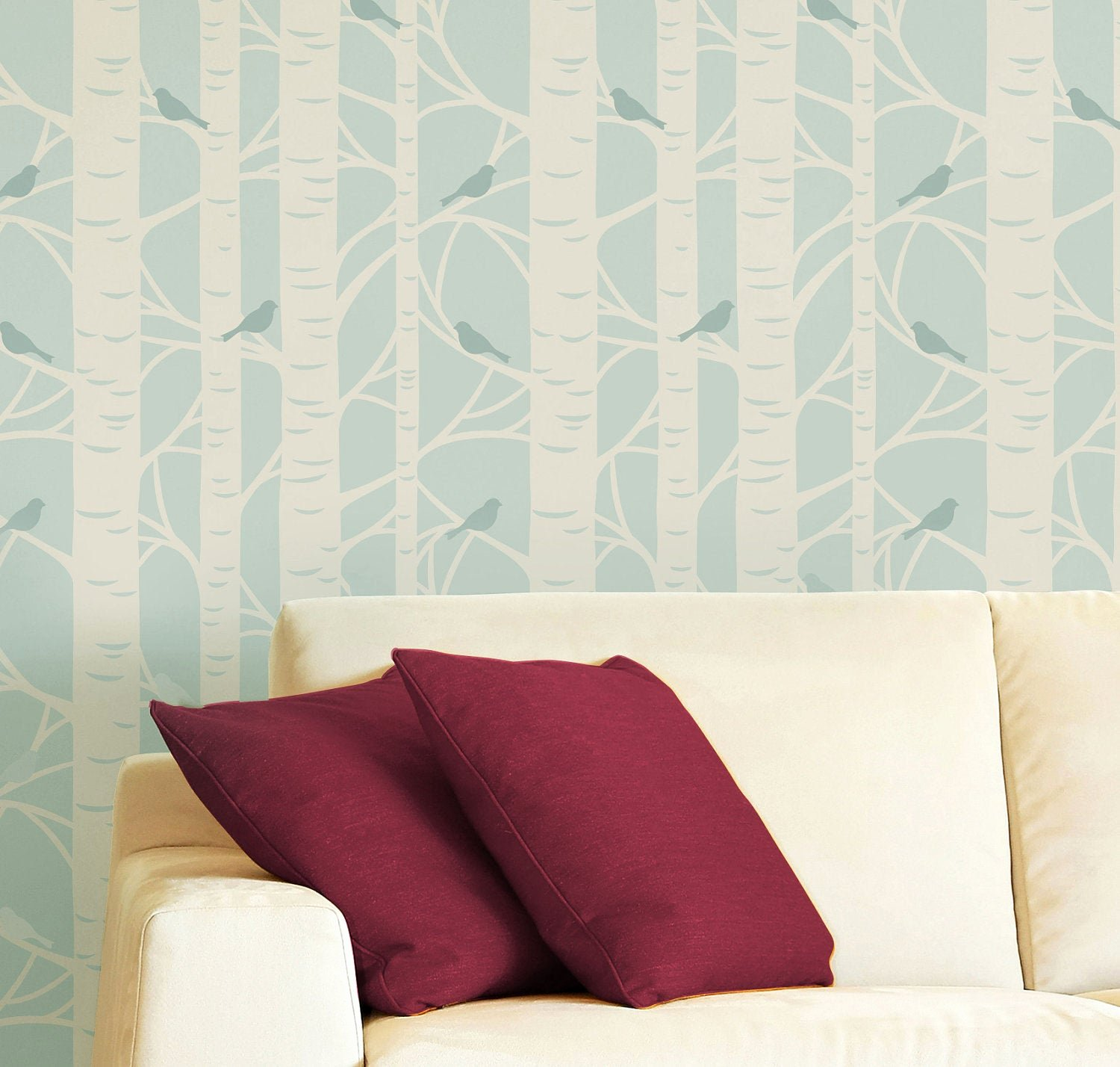 Tree Stencils for Walls Free Fresh Items Similar to Birch Tree Wall Stencils Wall Stencil